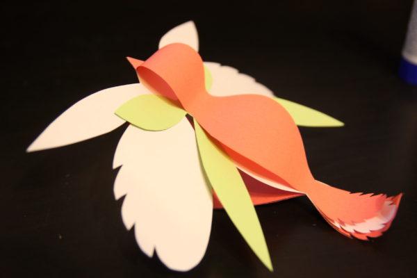 Мастер-класс Чудесная птица из бумаги: аппликация, декор, ёлочная игрушка, поделка