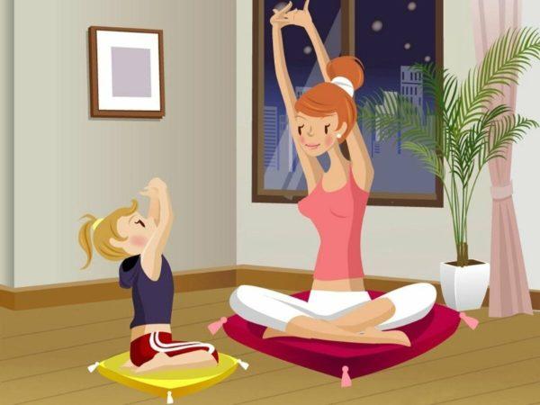 Гимнастика для ребёнка с мамой