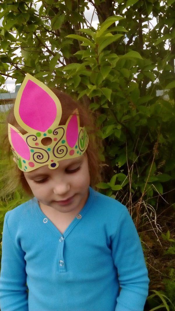Мастер-класс Корона для принцессы: аппликация, смешанная техника