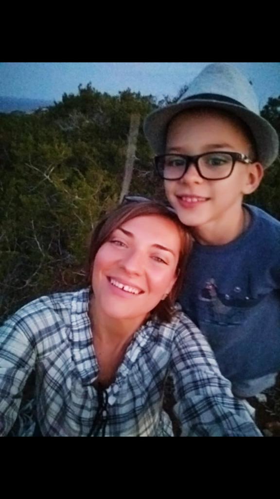 Елена с сыном
