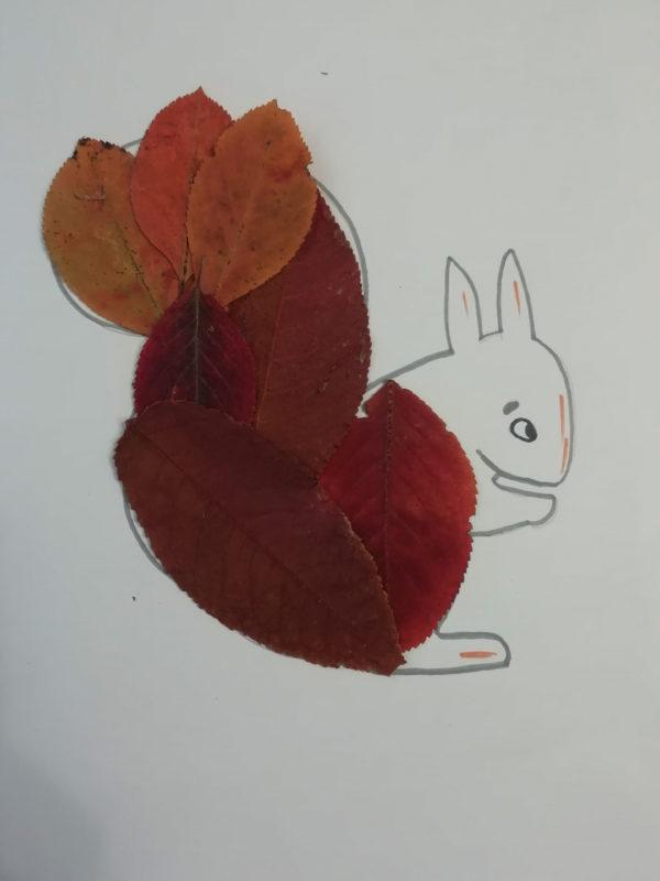 Мастер-класс Осенняя поделка: аппликация из природных материалов