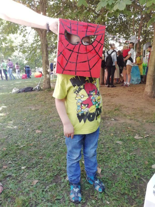 Мастер-класс: Маска Человека-паука -аппликация, карнавальный костюм